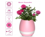 Music Flowerpot , Night Light Wireless Vase Smart Touch Music Plant Lamp Playing Light Round Pot Play Piano On a Real Plant Rechargeable Speaker(Without Plants)